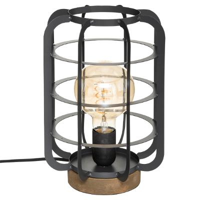 Bordlampe sort metal - Berry