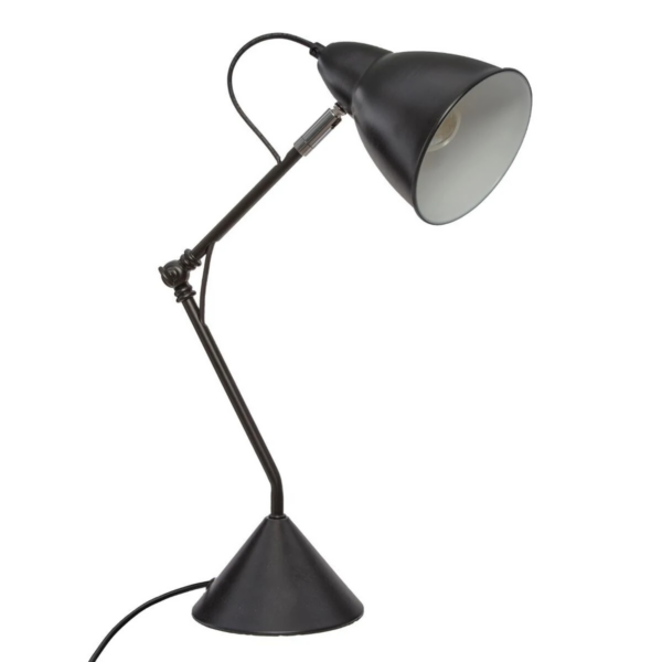Arkitektlampe i sort metal